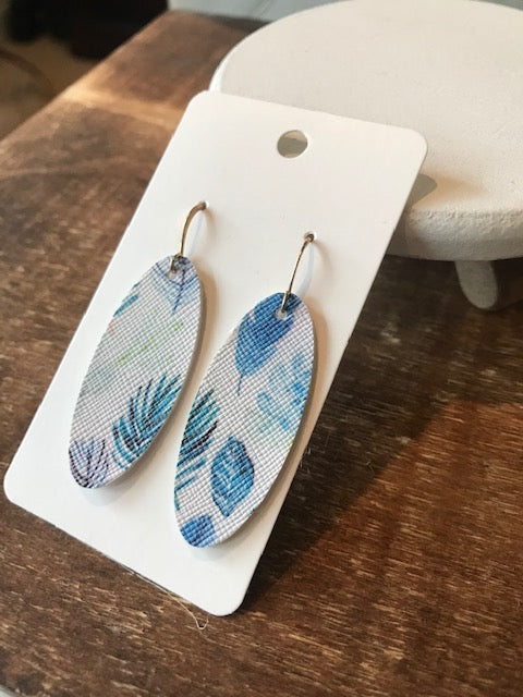 The Winter Garden Earrings - Feather