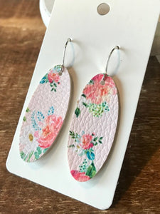 The Summer Garden Earrings - Peach Floral