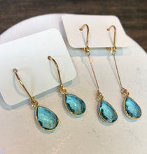 Load image into Gallery viewer, Quartz Gemstone Earrings