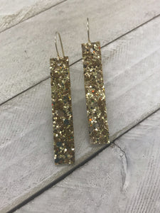 Gold Glitter Long Bars