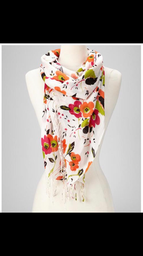 Colorful Flowered Scarf