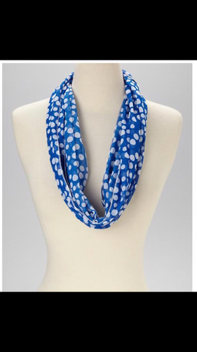 Blue and White Spring/Summer Scarf
