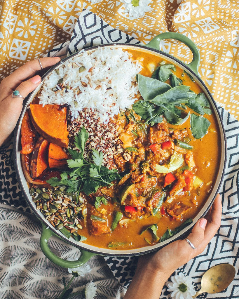 Clean-out-the-fridge Veggie Curry