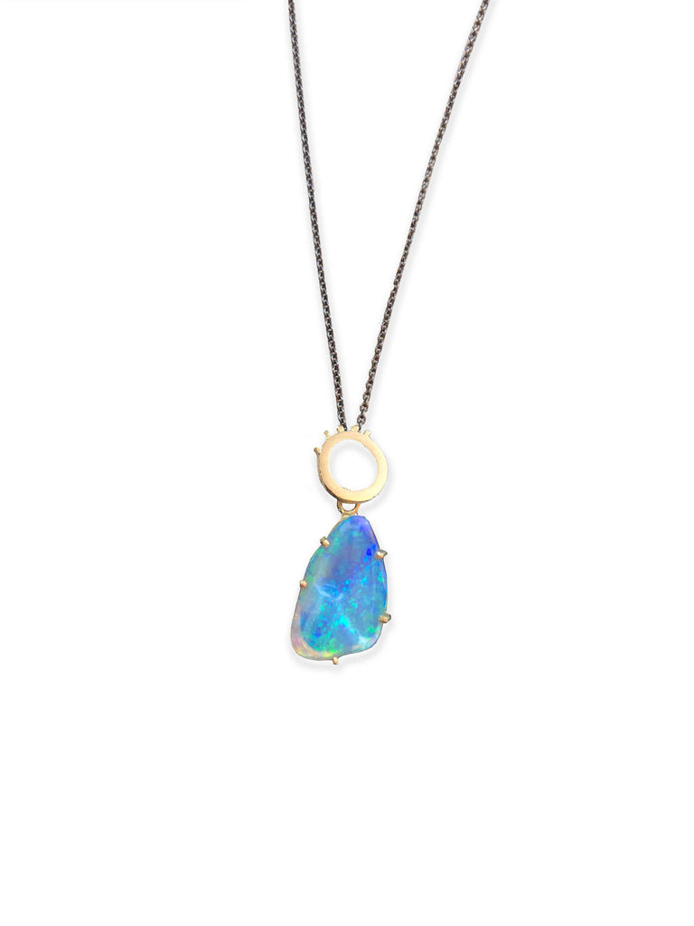 Etrusca Pendant with Solid Coober Pedy Crystal opal