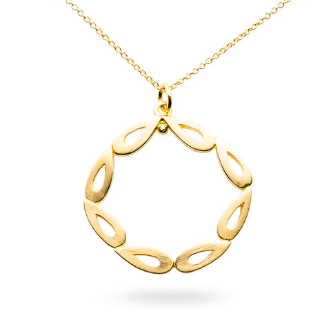 Unity Wreath Pendant - 18ct yellow gold