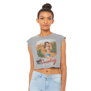 Bringing Country To the City  Crop Tee
