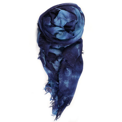 """Crushed"" Scarf in Blue"