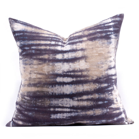 """Reed"" Pillow in Pearl/Midnight"