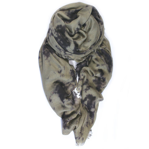 """Marble"" Scarf in Sage/Black"