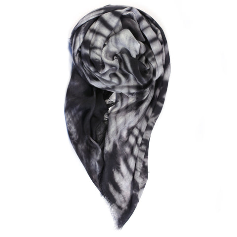 """Plume"" Scarf in Grey"