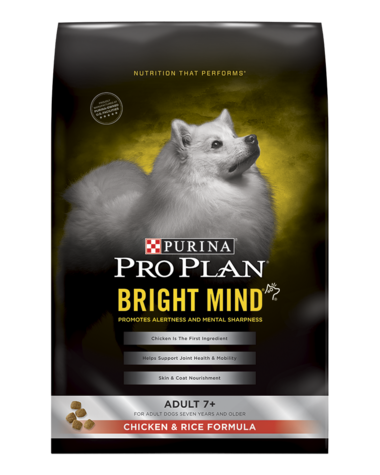 Purina Pro Plan BRIGHT MIND Adult 7+ Chicken & Rice Formula 30#