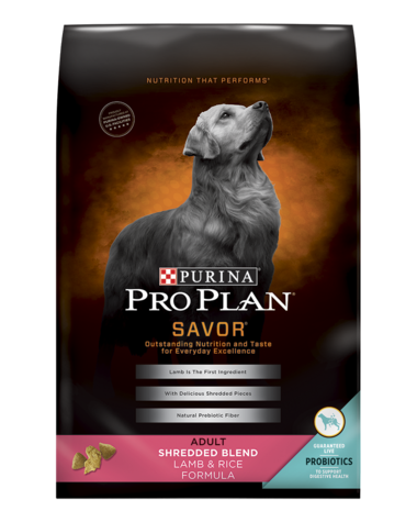 Purina Pro Plan SAVOR Shredded Blend Adult Lamb & Rice Formula 35#