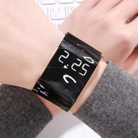 Sport Watch Men Watches LED New Creative Paper Clock Male Paper Strap Digital Watch reloj Hours Wrist Clock relogio masculino