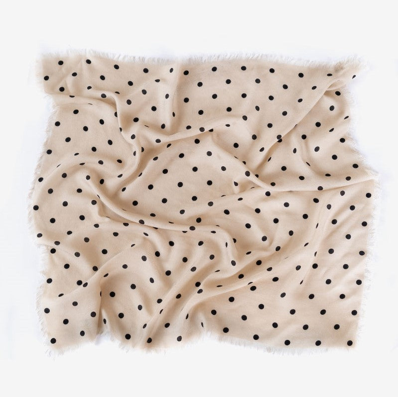 Beige + Black Polka Dot