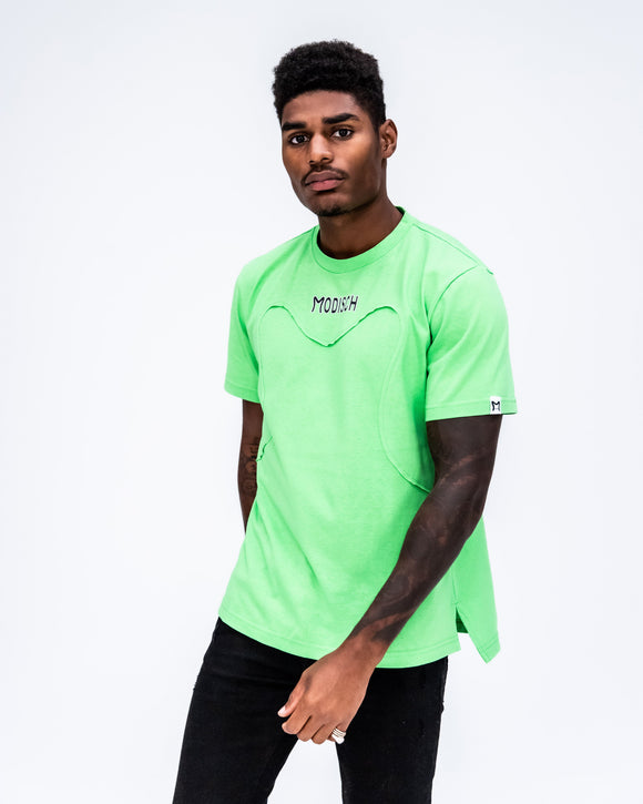 Modisch Engraved Logo Shirt - Green w/ Black