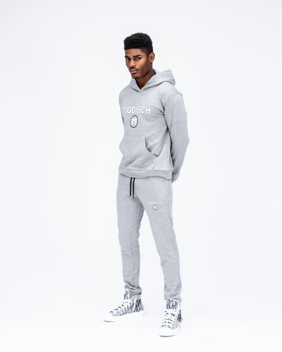 Modisch Cycle Logo Sweatsuit - Grey w/ White & Black