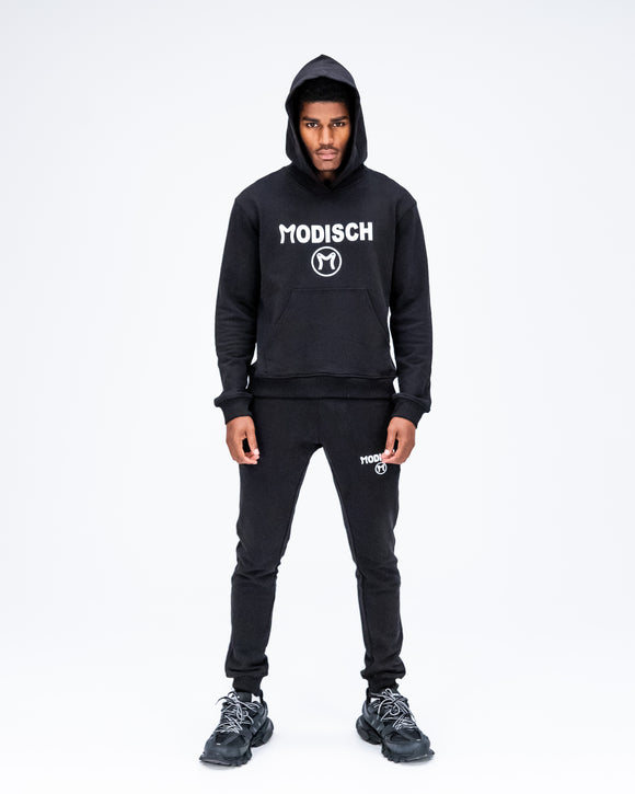 Modisch Cycle Logo Sweatsuit - Black w/ White