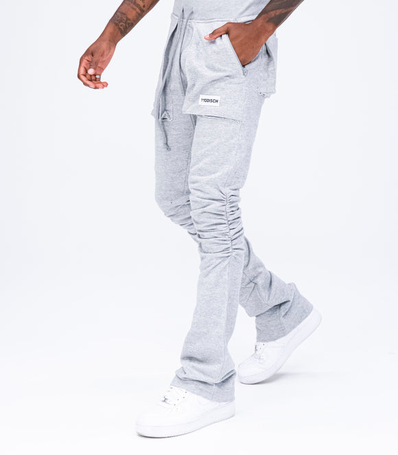 Modisch Stacked Lounge Pants - Grey