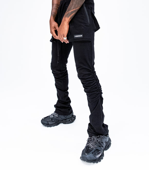 Modisch Stacked Lounge Pants - Black
