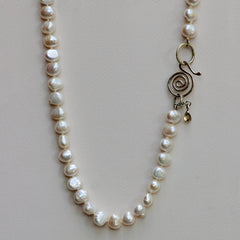 Baroque Ivory Pearl Necklace