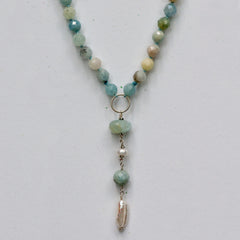 Aquamarine Long Pendant Necklace