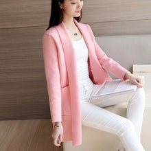 Load image into Gallery viewer, DRL Women's Autumn Winter Cardigan Sweater and Long Sections Wool Sweaters Slim Tight Bottoming Knitted Cardigans