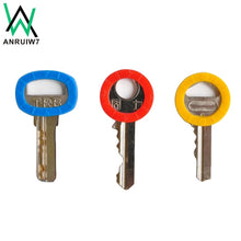Load image into Gallery viewer, 3pcs/8pcs/16pcs Mixed Color Hollow Rubber Key Covers Multi Color Round Soft Silicone Keys Locks Cap Elastic Topper Keyring Case