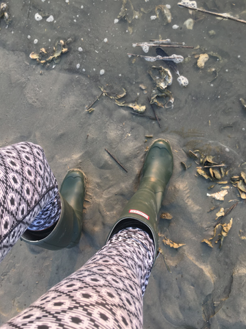 Fossil hunting on the beach in our XTRATUF Deck Boots