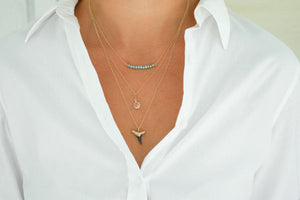 Charleston Classic 3-Layer Shark Tooth Necklace - Foxy Fossils