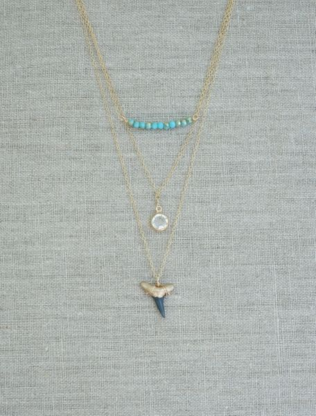 Charleston Classic 3-Layer Shark Tooth Necklace