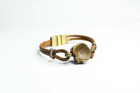 Vertebracelet: Natural Brown Series - Foxy Fossils