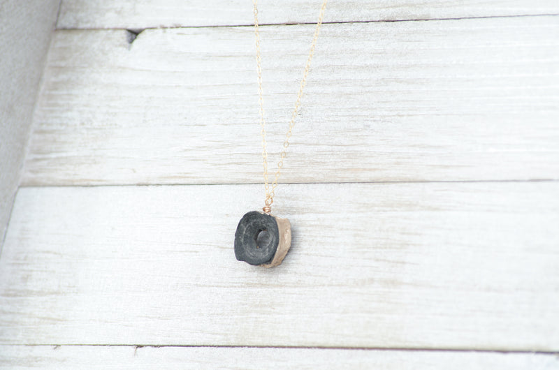 real fossil shark vertebra necklace