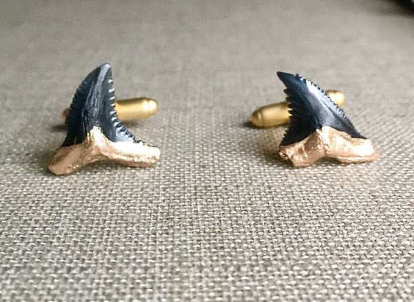 Shark Tooth Cufflinks - Gold