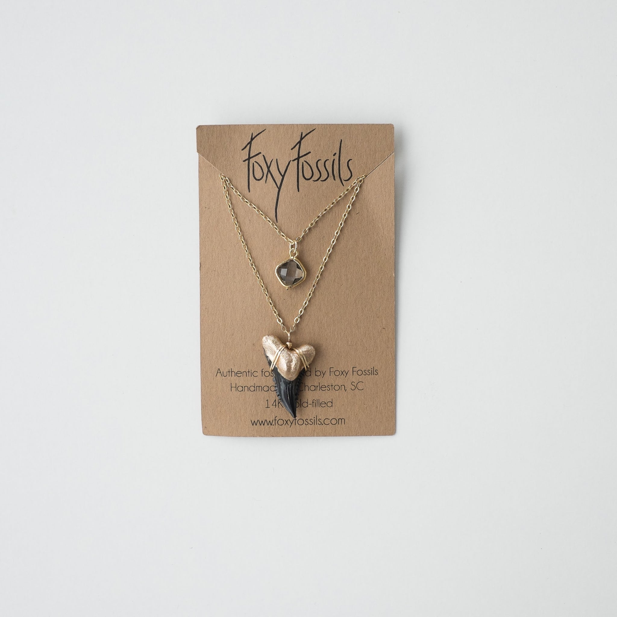 Hemipristis Serra Shark Tooth Necklace — Layered | Foxy Fossils