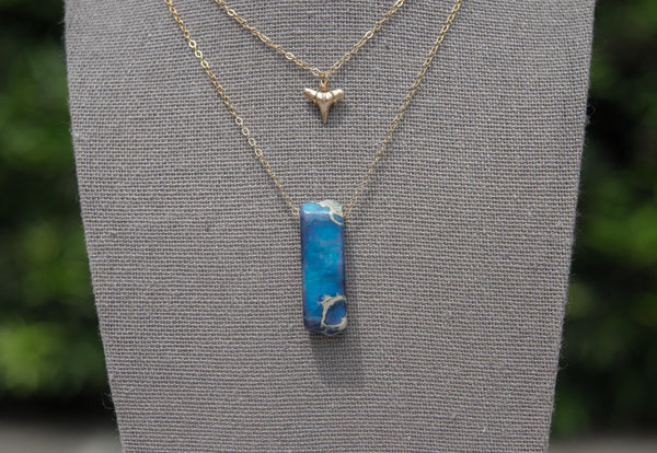 Deep Blue Sea Necklace - Foxy Fossils