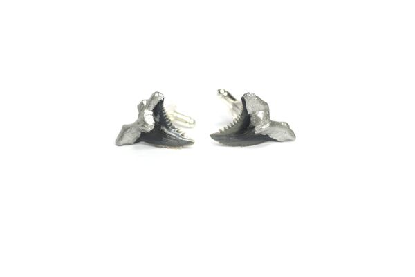 Shark Tooth Cufflinks - Silver