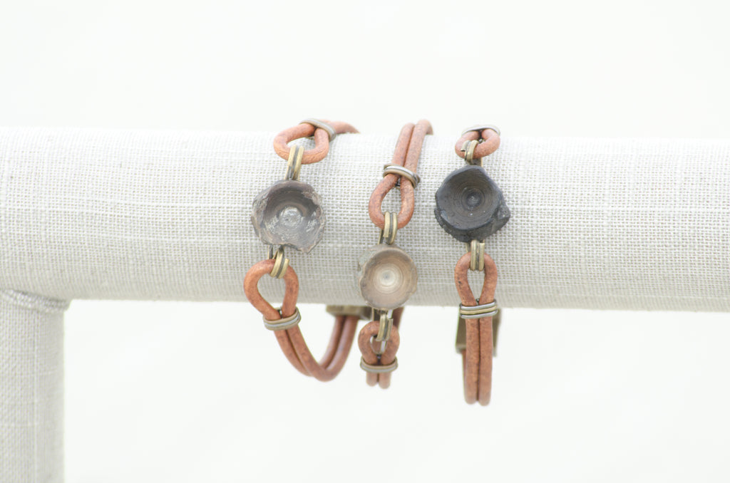 Vertebracelet: Light Brown Series - Foxy Fossils
