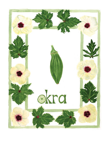 O is for Okra