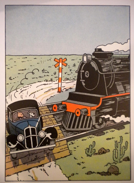 Tintin on the Train Tracks