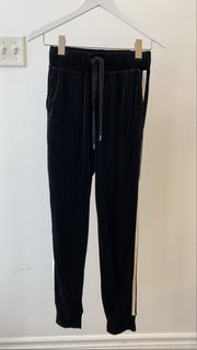Velour Jogger with Side Stripe