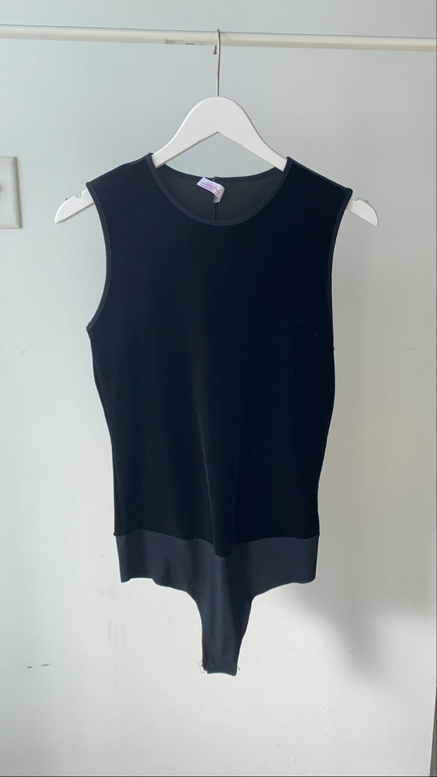 Velvet Sleeveless Bodysuit