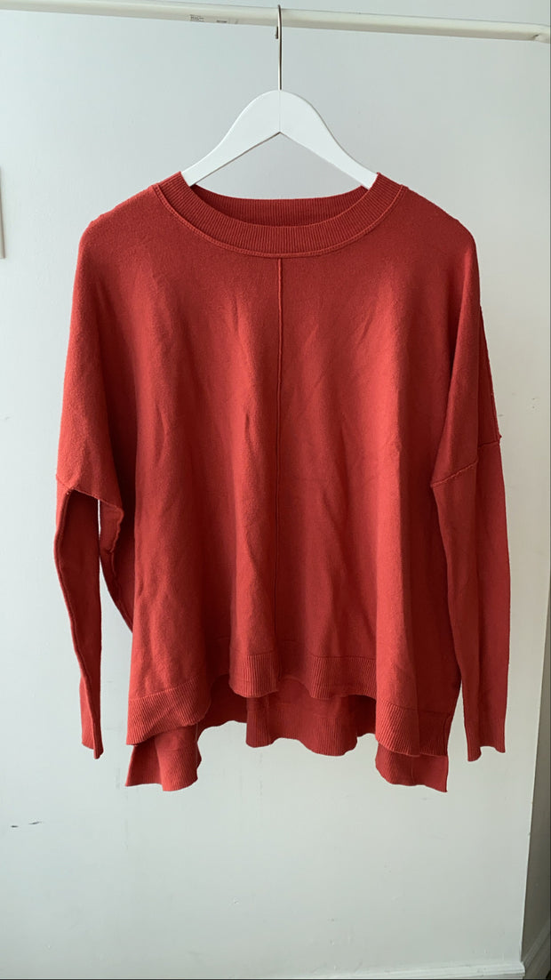 Rust Soft Crewneck Sweater