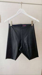 Seamless Pleather Biker Short