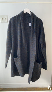 Navy and Charcoal Marled Cardigan