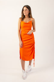 Neon Ruched Dress