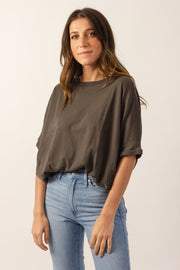 Grey Batwing Top