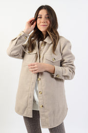 Tan Shirt Jacket