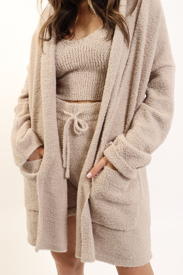 Fawn Cozy Eyelash Cardigan