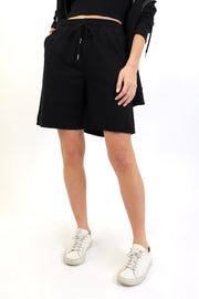 Black French Terry Bermuda Short