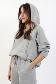 Heather Grey French Terry Pullover Hoodie